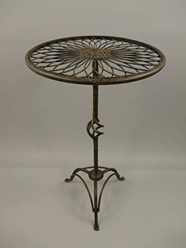 linoows Bistro Tisch, Beistelltisch, Gartentisch, Nostalgie Blumentisch Eisen
