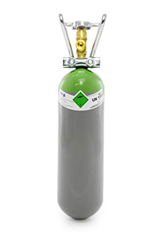 Schutzgas Mix 18 2 Liter Flasche/NEUE Gasflasche (Eigentumsflasche), gefüllt mit CO2 (18%) & Argon (82%) / 10 Jahre TÜV ab Herstelldatum/Schweißgas zum MAG Schweißen