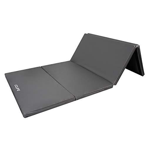 CCLIFE Turnmatte Weichbodenmatte Klappbar für zuhause Fitnessmatte Gymnastikmatte rutschfeste Sportmatte Spielmatte (200x100x5cm, Grau)