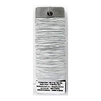 DariceFloral Paddle Wire - 26 gauge - White - 95 yards