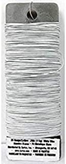 DariceFloral Paddle Wire - 26 gauge - White - 95 yards