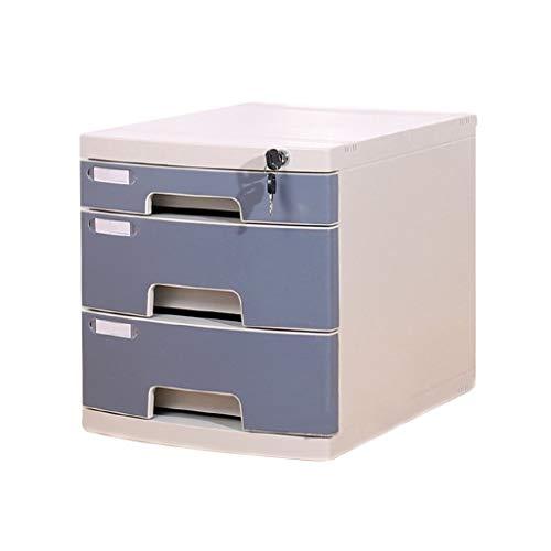 ASDFGH Gabinetes de Archivos con Llave con 3 Capas de Acabado Datos de Escritorio cajón de Almacenamiento Fichero archivador Pecho de cajones for Office y Home Storage Box