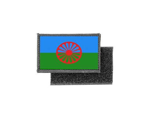 Aufnäher patch aufbügler gedruckt flagge fahne sinti roma roms