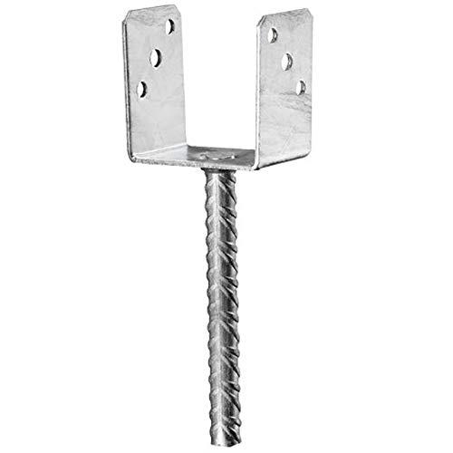 Pfostenträger mit Steindolle zum einbetonieren feuerverzinkt mit CE Zeichen (71 mm)
