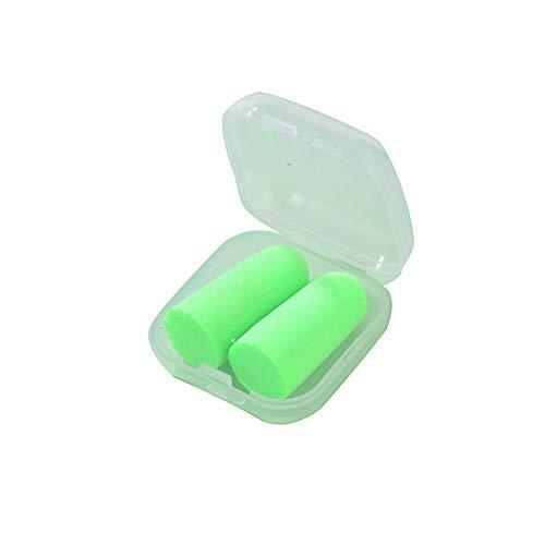 Paquete de 10 pares de tapones para los oídos para dormir ronquidos lectura, viajes, conciertos, deportes carreras y estudiar verde
