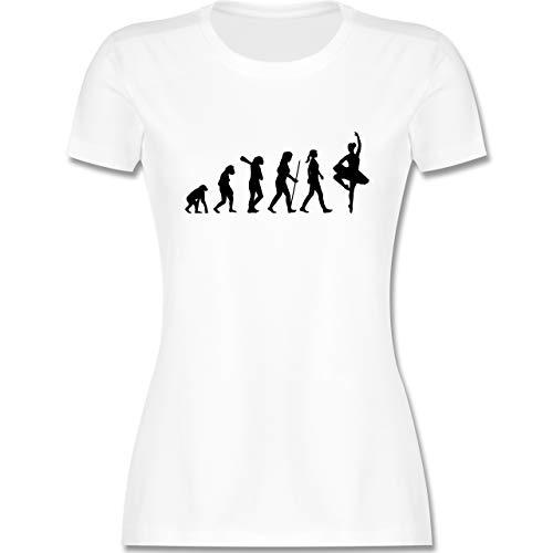 Evolution - Ballett Evolution - S - Weiß - Shirt Ballett - L191 - Tailliertes Tshirt für Damen und Frauen T-Shirt