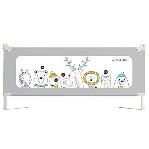 barrera cama Shuai Niño Diseño De Bloqueo De Seguridad Se Puede Levantar Verticalmente Barandilla De Seguridad para Bebés Que Se Ajusta Perfectamente Apto para Niños De 0 A 5 Años (Size:Length 200cm)