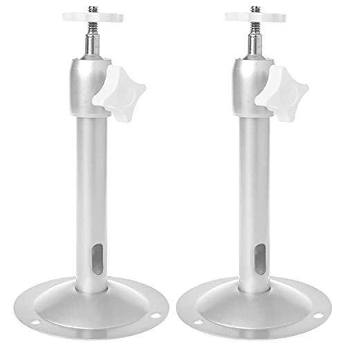 Qixuer 2 Pcs Soporte para Mini Proyector,Soporte de Techo Soporte de Aluminio Universal para Proyector Soporte para Colgar del Proyector de Pared Ajustable Montaje Soporte para Cámara o Mini Proyector