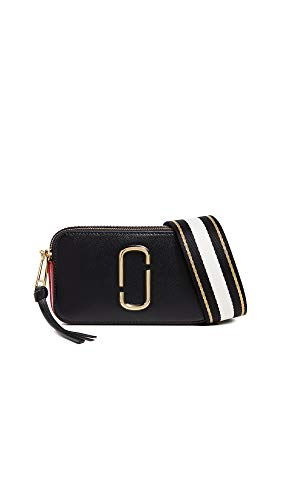 Marc Jacobs Women's Snapshot Camera Bag, Black/Red, One Size