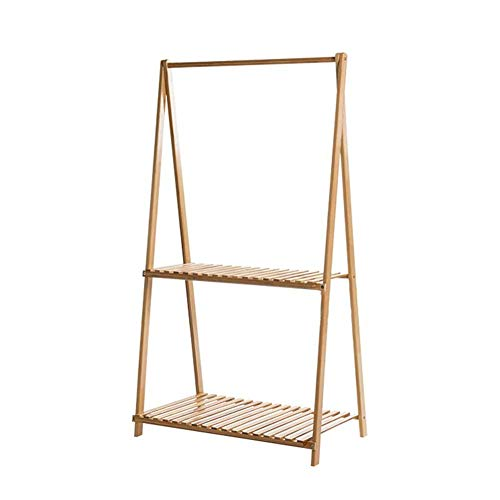 YXB Flower Ladder Display Rack Bamboe Gratis Staande Plant Stand Multifunctionele Opslag Plank Indoor Coat Rack