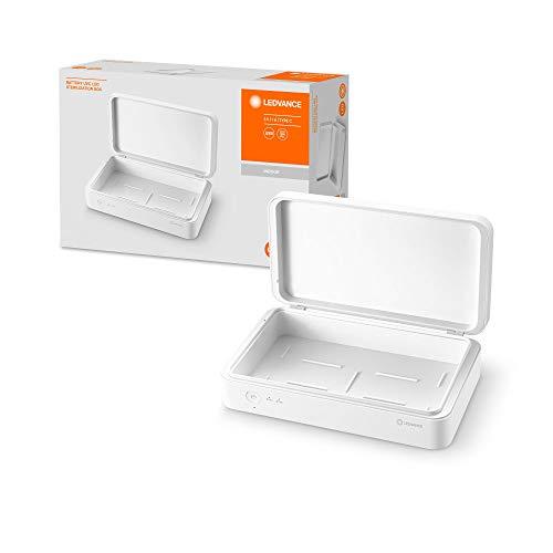 LEDVANCE UV-C Sterilization Box, volle UV-C Power zur Bekämpfung von Viren und Bakterien, Mobile Sterilisationseinheit zur Desinfektion von Dingen des täglichen Gebrauchs, 219,0mm x 126,0mm x 63,0mm