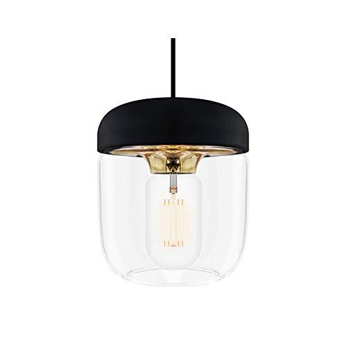 VITA Acorn lampenkap zwart + gepolijst messing 14 x 14 x 16 cm lamp