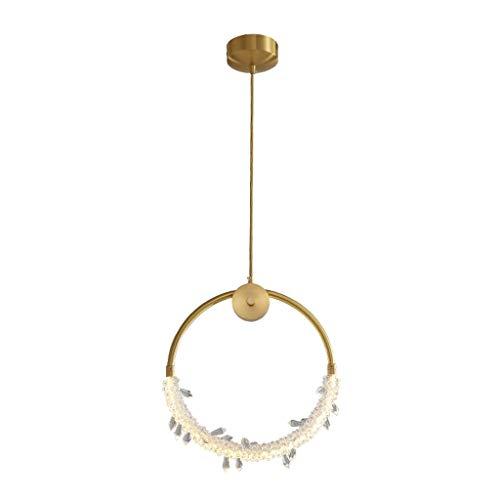 Lampara Colgante Creativa de cobre del hogar de la lámpara personalidad Ronda Comedor Dormitorio de noche luz del pórtico de la lámpara moderna minimalista Lámpara de araña lamparas techo