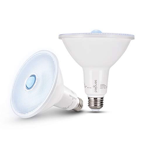 Sengled Motion Sensor Flood Lights Outdoor Dusk to Dawn Security Light Bulbs, E26 PAR38 Motion Activated 5000K Daylight, 1050LM, Waterproof LED Light Bulbs for Porch, Driveways, 2 Pack 4rd Gen