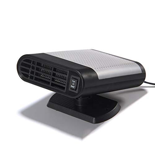 Portable Car värmefläkten, 12V 150W Vinter Vindruta Auto Car eluppvärmd bakruta defroster Anslut cigarettändare, Bil Heater reningsverk med 360 graders Rotary Base,Gray