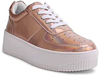 Wanted Shoes Women's Airport Fashion Lace-Up Platform...