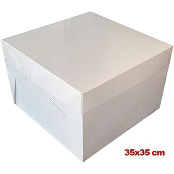 Mytortenland Caja para Tartas (25 x 25 x 20 cm, 10 Unidades): Amazon.es: Hogar