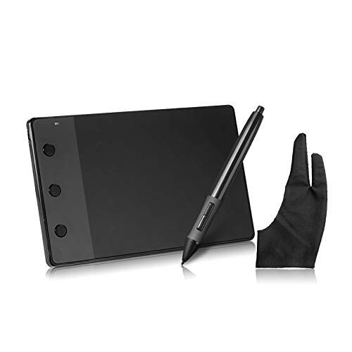 LIZONGFQ Tablero de Dibujo 4 x 2.23 Firma GRÁFICO Digital Pen USB Tablero de Dibujos de Arte + Guantes antiincrustantes como Regalo
