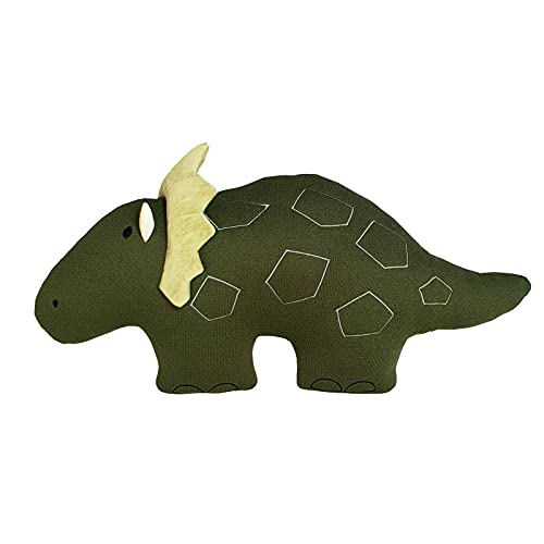 PETIT ALO Cojín Infantil Dinosaurio Verde | Cojín Dino | Peluche Dinosaurio | Cojín Manta Infantil Dinosaurio | Decoración Infantil | Cojín para Niños Niñas Bebé | Cojín Forma Dinosaurio