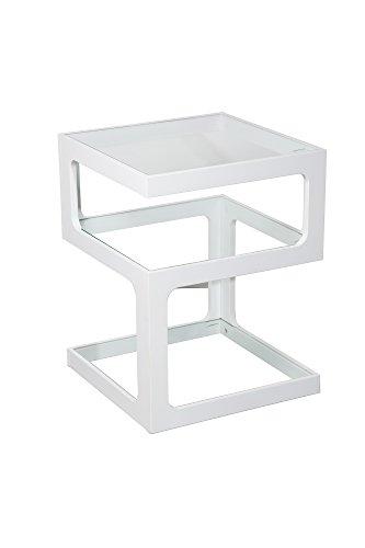 Aspect Rossini Triple Level bijzettafel/einde/lamp tafel (wit), hout