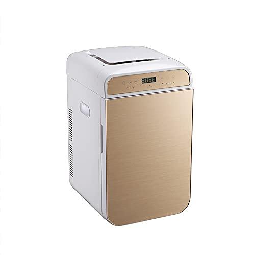 QPMY Mini Refrigerador para Automóvil, Refrigerador Pequeño De 8.8 Pies Cúbicos, Purificación De Aire, Panel De Vidrio Templado, Refrigerador De Gran Capacidad De Doble Uso para Refrigeración