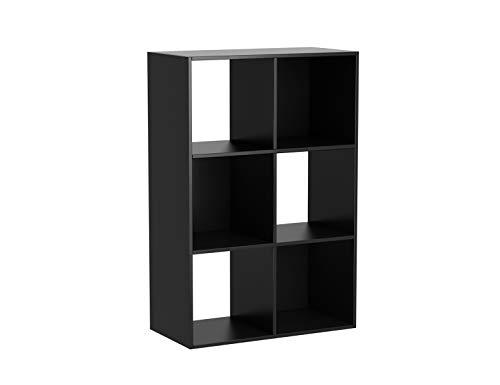 Mainstay 6 Cube Storage Organizer, Black (2 Pack(Black))