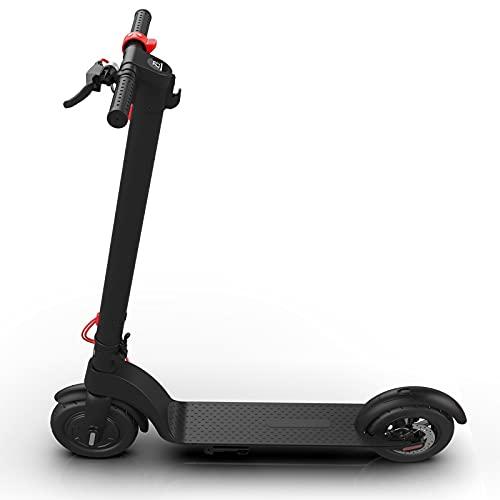 Kjy123 Scooter eléctrico Plegable para Adultos 35 km/h, 350W 5Ah Cross Country Aleación de Aluminio Scooter de 2 Ruedas 10 Pulgadas Ligera Ligera con Vespa LCD (Tamaño : 10 Inches)