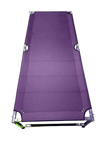 Tip&Top creation Heavy Duty Portable Camping Cot for Sleeping, Single Person Folding Bed for Indoor, Outdoor and Balcony - Set of 1