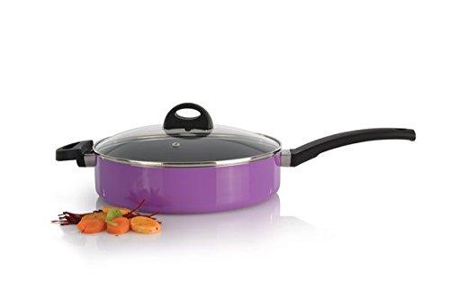 Berghoff 3700147 Sauteuse avec Couvercle Violette 26 cm, Aluminium forgé
