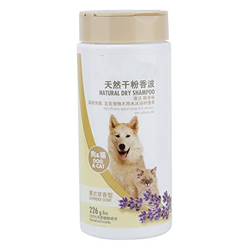 Voluxe Polvo seco para Mascotas, champú para Mascotas sin Agua en Polvo seco para Mascotas con 1 Botella X Polvo seco para Mascotas para Gatos