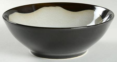 Sango Prelude Black Soup/Cereal Bowl, Fine China Dinnerware