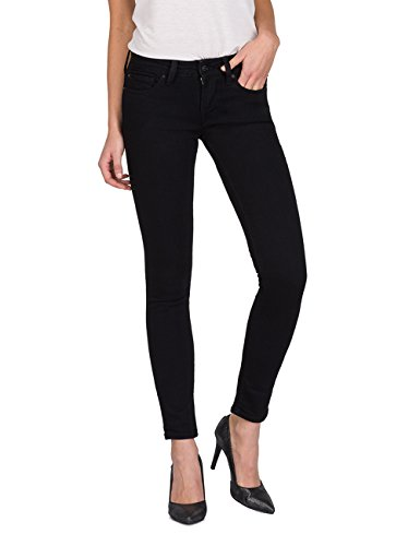 Replay Damen LUZ Skinny Jeans, Black 98, 29W / 32L