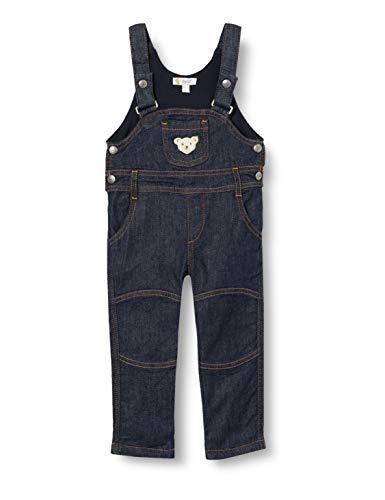 Steiff Baby-Jungen Latzhose, Grau (ESTATE BLUE 6016), 80