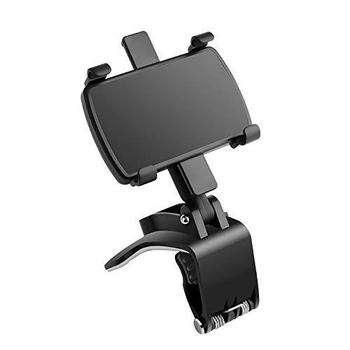 OWSOO Painel do carro, suporte para telefone celular, suporte multifuncional do espelho retrovisor do carro, estrutura de suporte de navegação do console central universal Trava automática do painel