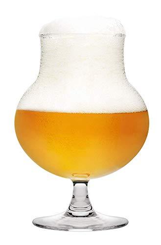 Pasabahce, Belgian Ale, 440327, set di 4 bicchieri da birra, altamente funzionali, con design elegante, adatti per tutte le birre artigianali, alta qualità, 0,4 l, 485 ml