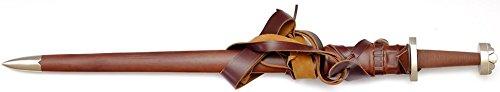 Wikingerschwert Scharf mit brauner Scheide und Gürtel KAWASHIMA STEEL ®