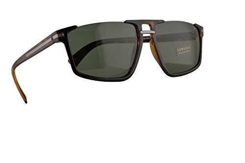 Versace VE 4363 Gafas de Sol Marrón con Lentes Verde 60mm 10871 VE4363