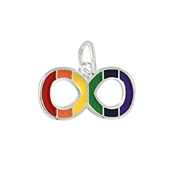 Fundraising For A Cause   Rainbow Infinity Symbol Gay Pride Charms – LGBTQ Pride Jewelry-Making Charms for Bracelets Necklaces and Earrings  25 Charms