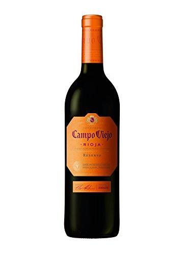 Campo Viejo Reserva Rotwein – Spanischer Rotwein mit Aromen dunkler Früchte & Gewürznoten – Sanfter Geschmack mit langanhaltendem Abklang – 1 x 0,75 L