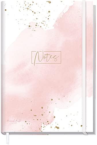 Notizbuch A5+ liniert mit Gummiband [Blush] von Trendstuff by Häfft | 156 Seiten, 78 Blatt | als Bullet Journal, Tagebuch, Notizheft | nachhaltig & klimaneutral