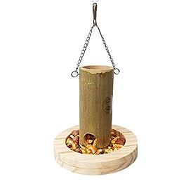 decaden Parrot Feeder Bird Wooden Food Box Food Cup