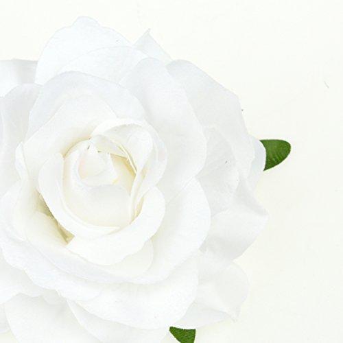 DRESHOW Flower Hair Clip Rose Hairpin Floral Brooch Floral Hair Clips for Women Rose Hair Accessories Wedding Pack 5/16 2