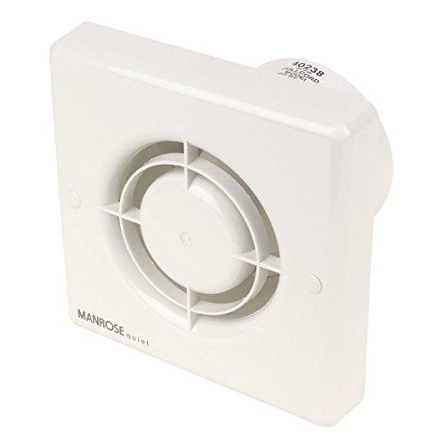 Manrose QF100P 5 W silencioso Extractor de aire para baño empotrable con tirador
