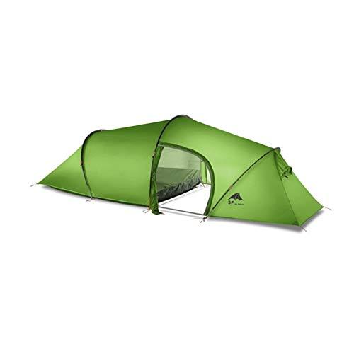 2 persona 2 habitaciones 4 estación Tunnel Tent 15D Silicon al aire libre Camping Senderismo Escalada Ultralight Espacio grande 210t Tiendas de campaña Pesca Tent Tents Blackout Tienda Camping
