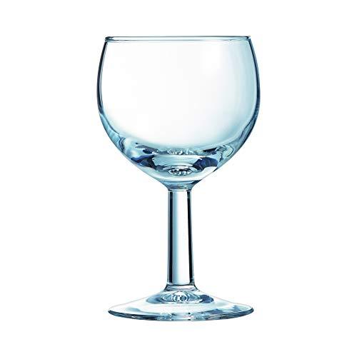 Arcoroc ARC 40357 Ballon Rotweinkelch, Weinglas, 250ml, mit Füllstrich bei 0.2l, Glas, transparent, 12 Stück