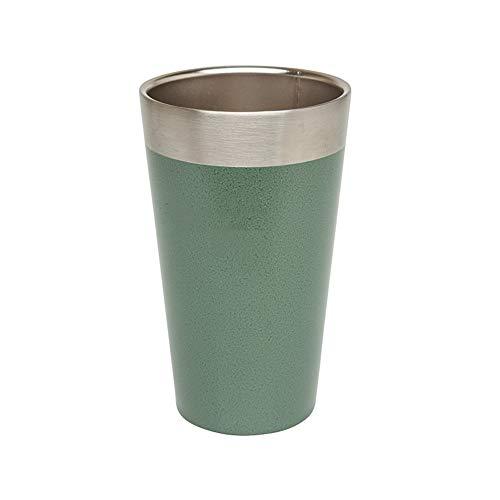 Copa De Vino Al Vacío Vacío de acero inoxidable del vidrio de vino Copas creativas for los hombres y las mujeres Taza de cerveza Copas recto bajo 100 ml Carry ( Color : Verde , Size : 90ml )