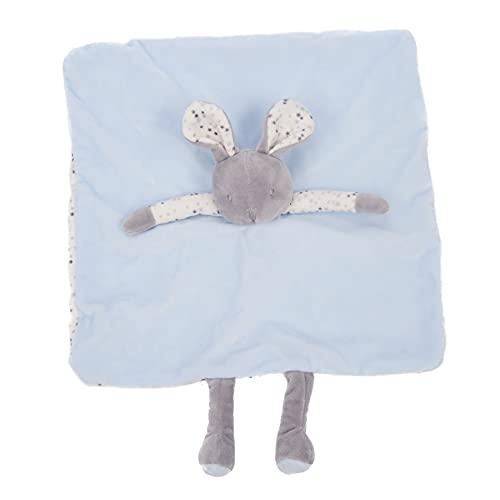 INCA. Dou dou bebé. Mantita de apego bebé. Extra de suavidad. Peluche de Conejito. Color de la mantita Azul. Medida del doudou para bebé: Manta 16 cm x 16 cm x 6 cm
