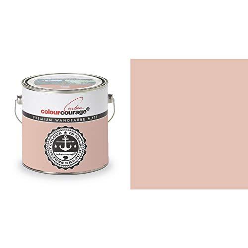 2,5 Liter Colourcourage Premium Wandfarbe Rosewood Shade Rosa | L719778590 | geruchslos | tropf- und spritzgehemmt