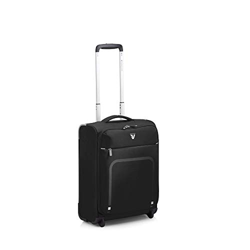 Roncato Lite Plus Maleta Cabina avión Negro, Medida: 45 x 35 x 18 cm, Capacidad: 25 l, Pesas: 1.3 kg, Maleta Cabina avión ryanair