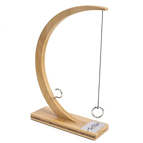 Tiki Toss Desktop Edition (Bamboo) Hook and Ring Toss Deluxe Game